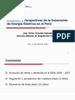 Perspectivas de La Generación de Energía Eléctrica en El Perú_2007