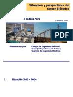 Situación y Perspectivas Del Sector Eléctrico EDEGEL