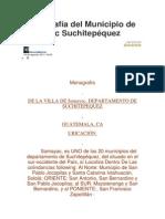 Monografía Del Municipio de Samayac Suchitepéquez