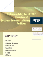SOX - Review of Key Provisions
