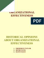 ORGANISATION EFFECTIVENESS