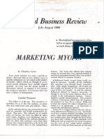Levitt1960 Marketing Myopia