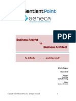 Business Analyst to Business Architect