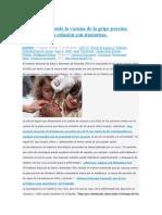 Finlandia Suspende La Vacuna de La Gripe Porcina