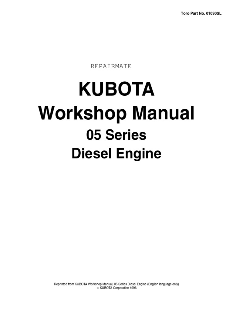 Kubota Engine Diesel D-V905-1505 | Internal Combustion Engine | Piston