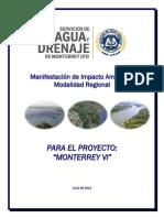 Manifestación de Impacto Ambiental Modalidad Regional para el proyecto Monterrey VI