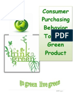 Consumers Purchasing Behaviour towards Green Product