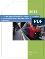 FInal Copy-A Crtical Evaluation of Branding Srategy of JM (1)