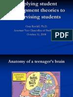 Applying Student Development Theories