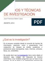 Métodos y Técnicas de Investigación Agosto 2014 Final p