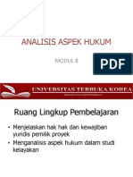 MODUL 8-ANALISIS ASPEK HUKUM.pptx