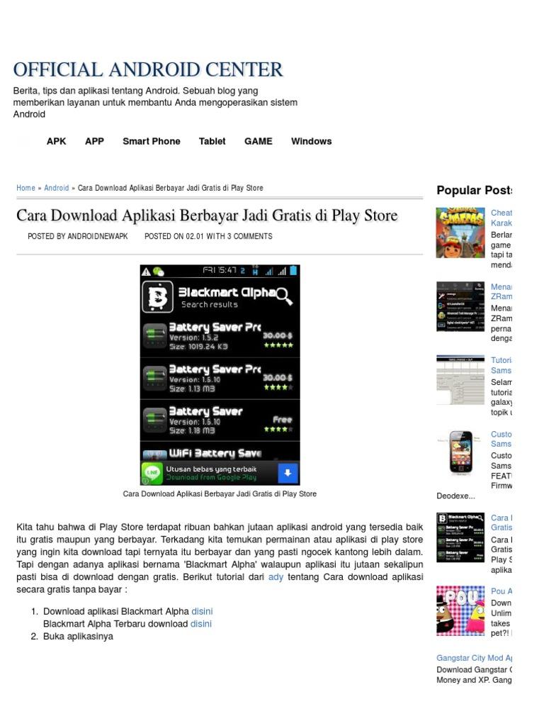 cara download apk gratis di play store