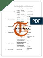 F2059216MECHANICAL Ref Books for Gate Exam