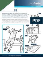 Sports Worksheetshandball 1