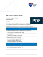 Skills Assessment Application Checklist 1 July 2012 V1