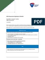 Skills Assessment Application Checklist 1 July 2012 V1