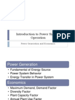 Introduction to Power System Operation