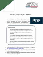 Instructivo Para Postular Por Plataforma