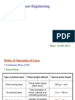 Modes of Laser Operation