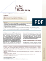 Emerging Applications for Acellular Dermal Matrices in Mastopexy