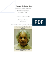 UG Krishnamurti - El Coraje de Estar Solo