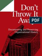 Documenting Preserving Organizational History