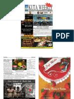 "Kuta Weekly-Edition 405 ""Bali""s Premier Weekly Newspaper"""