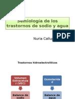 Semiología de Los Trastornos de Sodio y Agua