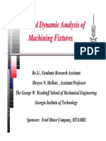 Static and Dynamic Analysis of Machining Fixtures