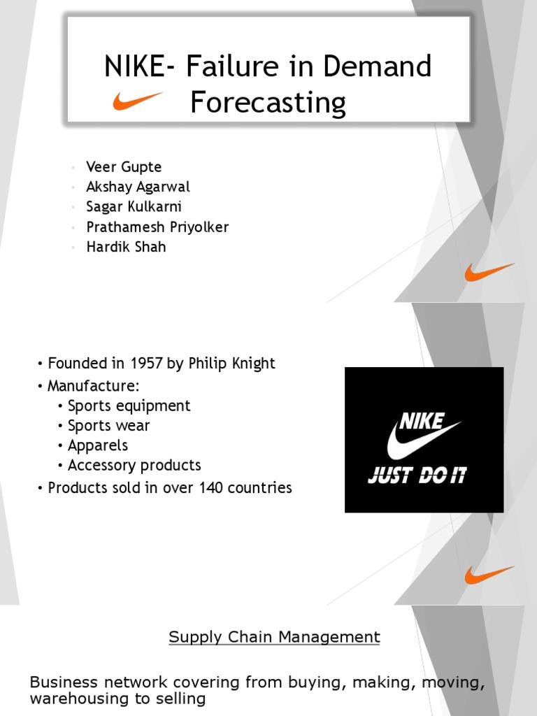 NIKE- Failure in Demand Forecasting
