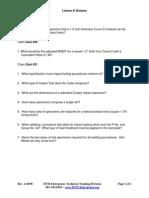 Lesson 8 Quizzes 19 to 21