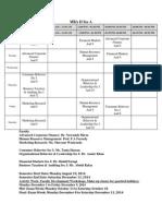 MBA II Time Table
