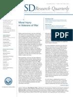 Moral Injury in Veterans of War