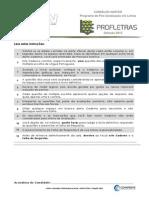 Caderno de Provas PROFLETRAS2014