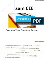 Assam CEE 2014 Question Paper - Biology