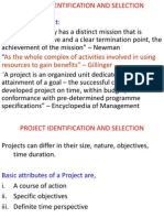 Project Identification and Selection