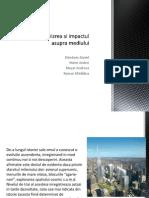 Proiect Biologie - Urbanizarea Și Impactul Asupra Mediului