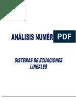 Clase Sistemas de Ecuaciones Lineales