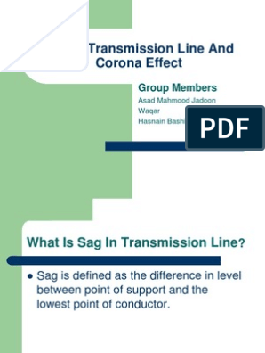 Sag in Transmission Line and Corona Effect | Electrical