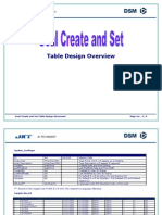 Table Design Overview