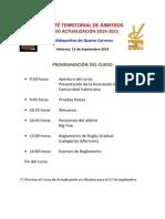 Curso Actualización Arbitraje Zona Norte 2014