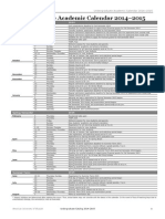 Undergraduate Academic Calendar 2014 2015