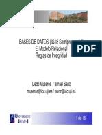Bases de datos -modelo relacional,Reglas de integridad-
