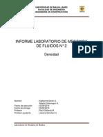 Informe Laboratorio de Mecánica de Fluidos 2