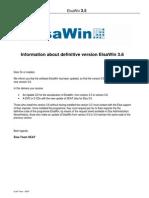 Information ElsaWin Version 3.6 UPDATE