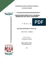 Analisis Estratigrafico de La Secuencia Sedimentaria Del Grupo Chicontepec