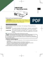 Hitachi Cp-x345 Users Manual Projector