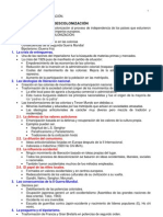 Tema 13 La descolonización, esquema