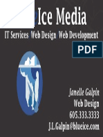 blueice media buisness card