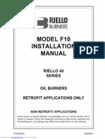 SEars Riello f10 oil burner manual